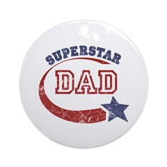 Vintage Superstar Dad Ornament (Round)