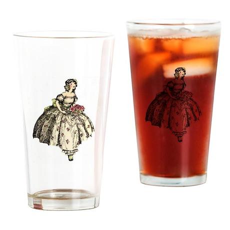 Flower Girl Drinking Glass