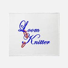 Loom Knitter Throw Blanket
