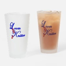 Loom Knitter Drinking Glass