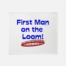 Loom Knitting Man Throw Blanket
