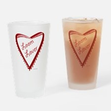 Loom Lover Heart Drinking Glass