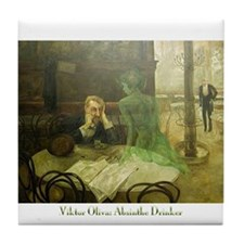 Absinthe Drinker Tile Coaster