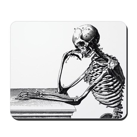 Thinking Skeleton Mousepad