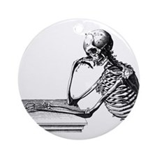 Thinking Skeleton Ornament (Round)