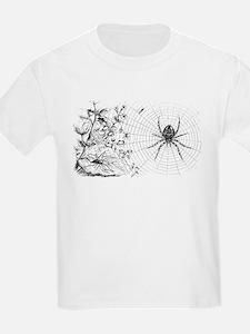 Creepy Spider Web Line Art T-Shirt