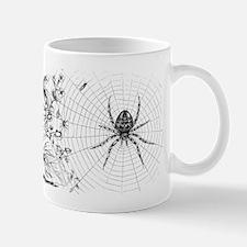 Creepy Spider Web Line Art Small Small Mug