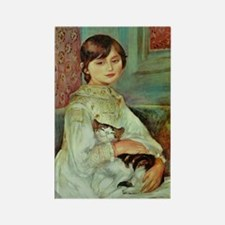 Renoir's Girl with Cat Rectangle Magnet