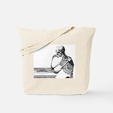 Thinking Skeleton Tote Bag
