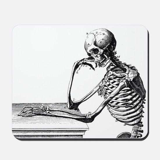 Thinking Skeleton Mousepad