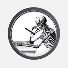 Thinking Skeleton Wall Clock