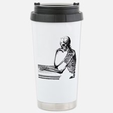 Thinking Skeleton Stainless Steel Travel Mug