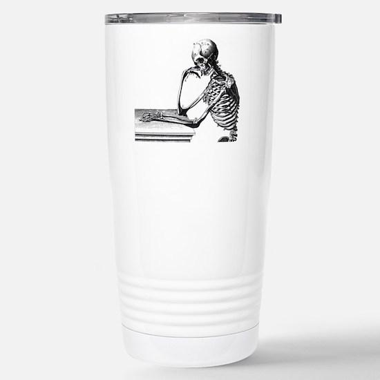 Thinking Skeleton Stainless Steel Travel Mug
