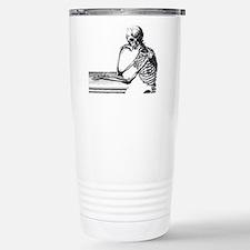 Thinking Skeleton Travel Mug