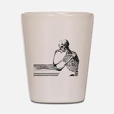 Thinking Skeleton Shot Glass