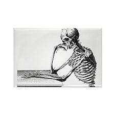 Thinking Skeleton Rectangle Magnet (10 pack)