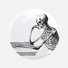 """Thinking Skeleton 3.5"""" Button"""