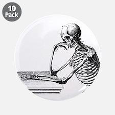 "Thinking Skeleton 3.5"" Button (10 pack)"