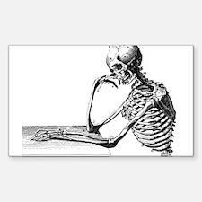 Thinking Skeleton Decal