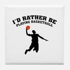 Playing basketball Tile Coaster