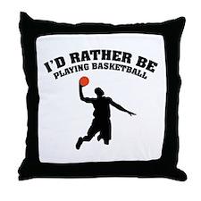 Playing basketball Throw Pillow