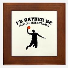 Playing basketball Framed Tile