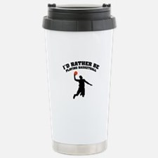 Playing basketball Stainless Steel Travel Mug