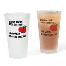 Great Teacher's Assistant Drinking Glass