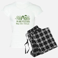 Make New Friends (green) Pajamas