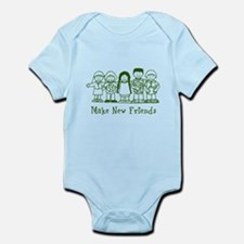 Make New Friends (green) Infant Bodysuit