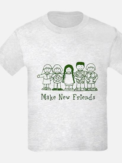 Make New Friends (green) T-Shirt