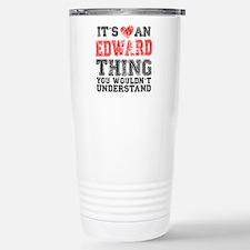 Red Edward Thing Travel Mug