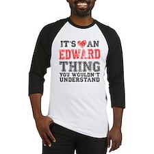 Red Edward Thing Baseball Jersey