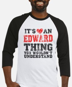 Red Edward Thing Baseball Jersey