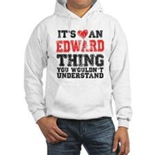 Red Edward Thing Hooded Sweatshirt
