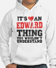 Red Edward Thing Hoodie