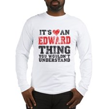 Red Edward Thing Long Sleeve T-Shirt
