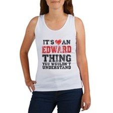 Red Edward Thing Women's Tank Top