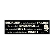 Churchill Socialism Quote Car Magnet 10 x 3
