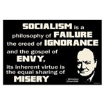 Churchill Socialism Quote Large Poster