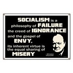 Churchill Socialism Quote Banner