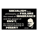 Churchill Socialism Quote Sticker (Rectangle)