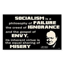 Churchill Socialism Quote Decal