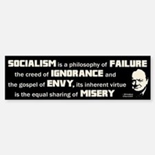 Churchill Socialism Quote Bumper Bumper Sticker
