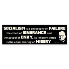 Churchill Socialism Quote Bumper Sticker