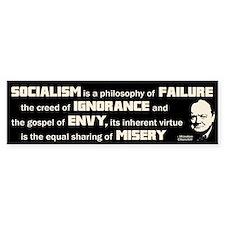 Churchill Socialism Quote Car Sticker