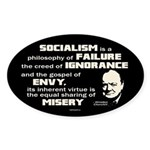 Churchill Socialism Quote Sticker (Oval)