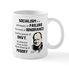 Churchill Socialism Quote Small Mug