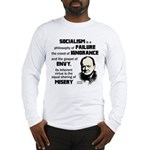 Churchill Socialism Quote Long Sleeve T-Shirt