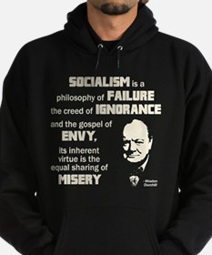 Churchill Socialism Quote Hoodie
